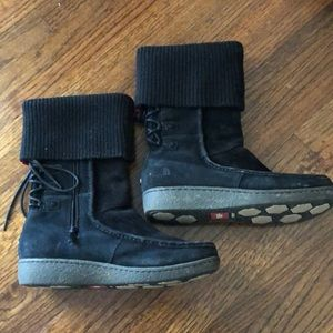 North Face Suede Black Boots 8.5